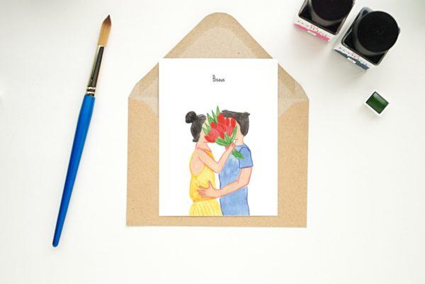 Postkaart Bisous